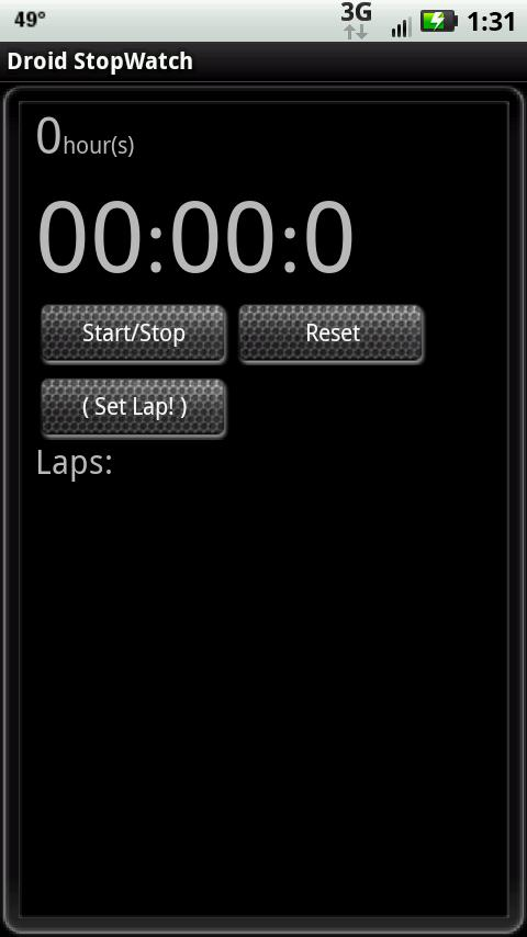 Stopwatch + - screenshot