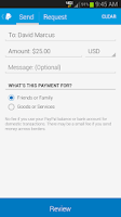 Screenshot of PayPal