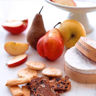 Baked Camembert with Fresh Fruit.