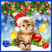 Kitty Christmas live wallpaper