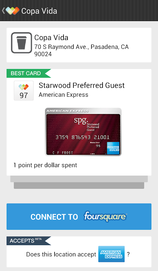 Wallaby - Credit Card Rewards - screenshot