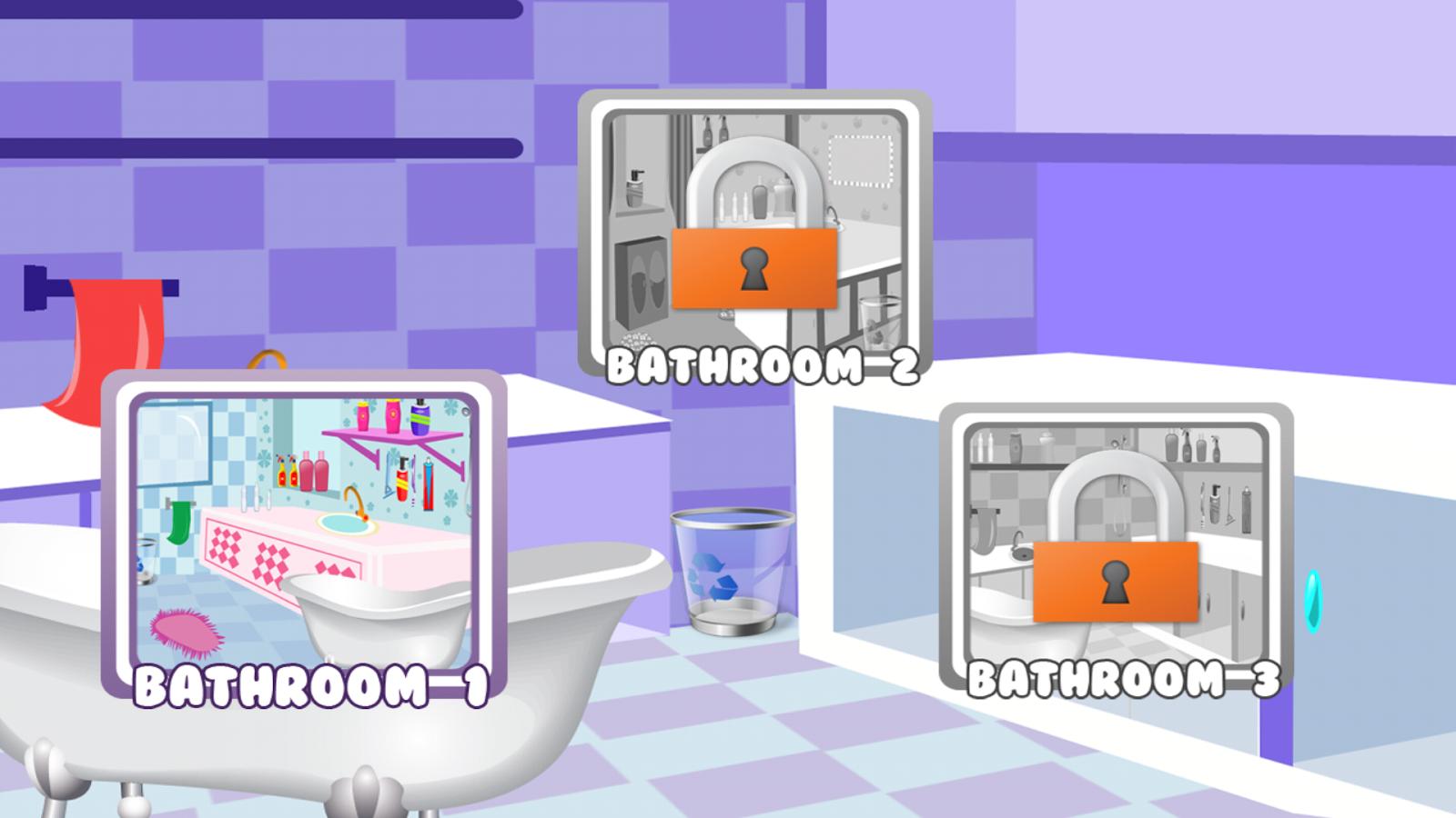 Clean up bathroom games - Cleaning Games Screenshot