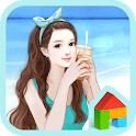 스위트걸 sunshine beach 도돌런처 테마 icon