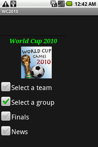 World Cup 2010 Easy Access - screenshot