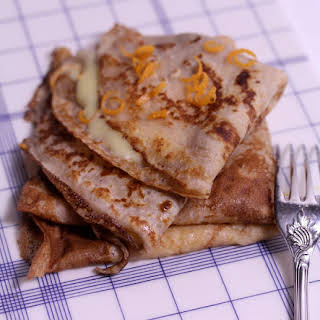 Chestnut Flour Crepes with Tangerine Curd.