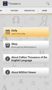 Collins Thesaurus English TR- screenshot thumbnail