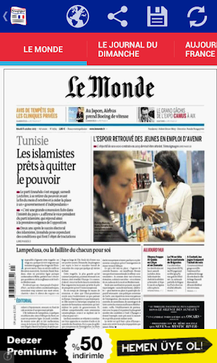 Front Pages of France