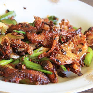 Stir-fried Tripe with Chili Bean Paste.