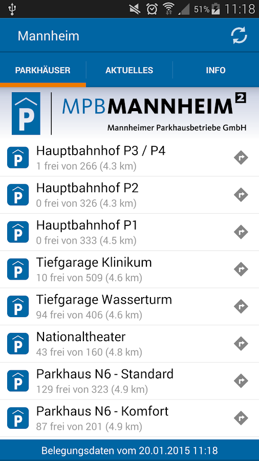 Parken in Mannheim- screenshot