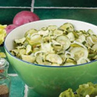 Onion Cucumber Salad.