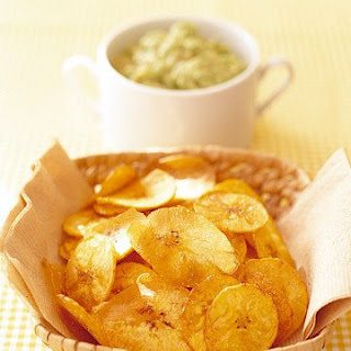 Banana Avocado Dip with Plantain Chips