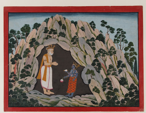 Vishnu Appears to King Muchukunda in a Cave in the Himalayas