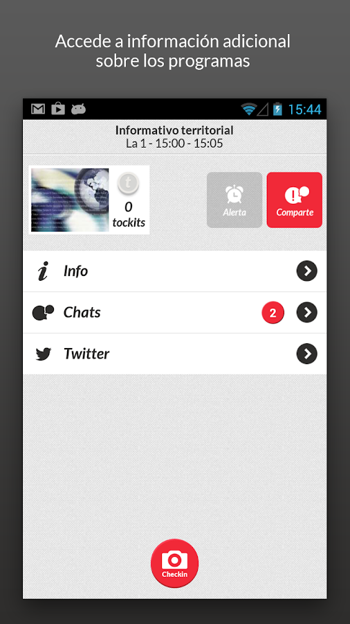 tockit - social TV - screenshot