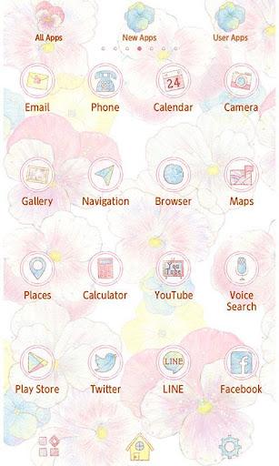 Flower Theme -Gentle Pansies- 1.0.0 Windows u7528 2