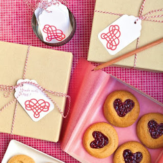 Peanut-Butter-and-Jam Heart Cookies