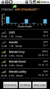 Meraki WiFi Stumbler - screenshot thumbnail