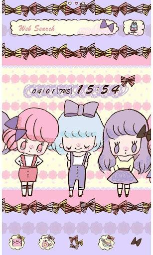 Cute Theme-Ribbon Girls- 1.0 Windows u7528 1