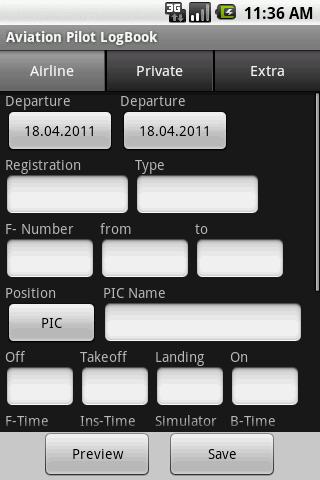 Aviation Pilot LogBook- screenshot