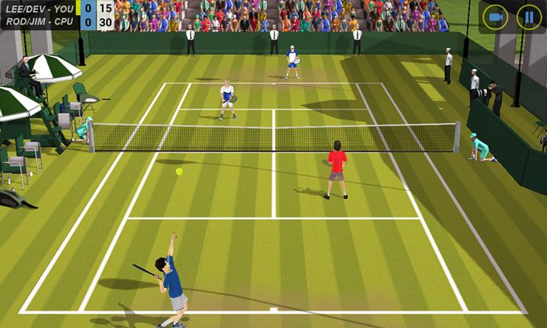 Flick Tennis screenshot #1