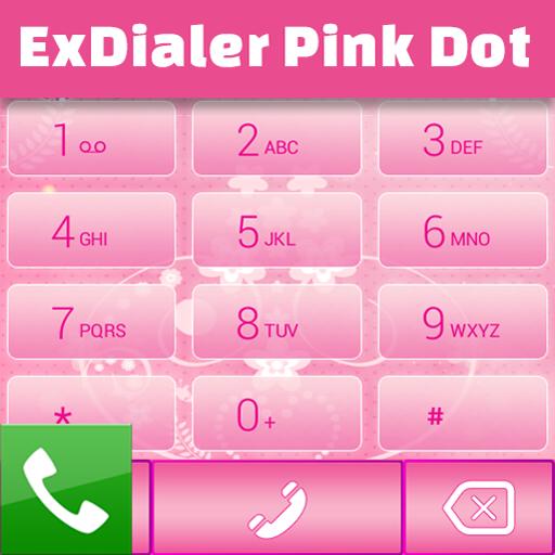 ExDialer粉红圆点 個人化 App LOGO-硬是要APP