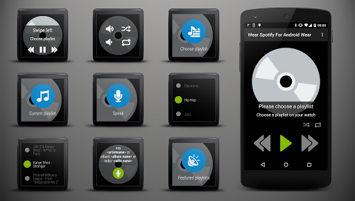 Wear Spotify For Wear OS (Android Wear) 1.3.1 screenshots 1