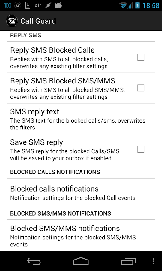Call Guard-SMS & Call Blocker - screenshot