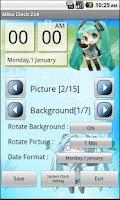 Screenshot of Miku Chibi Clock ( Vocaloid )