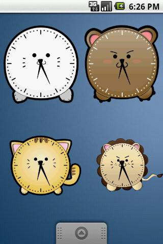 Cute Seal Clock Widget 2x2 - screenshot