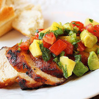 Spiced Chicken with Tropical Salsa.