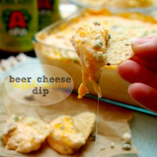 Beer Cheese Buffalo Chicken Dip.