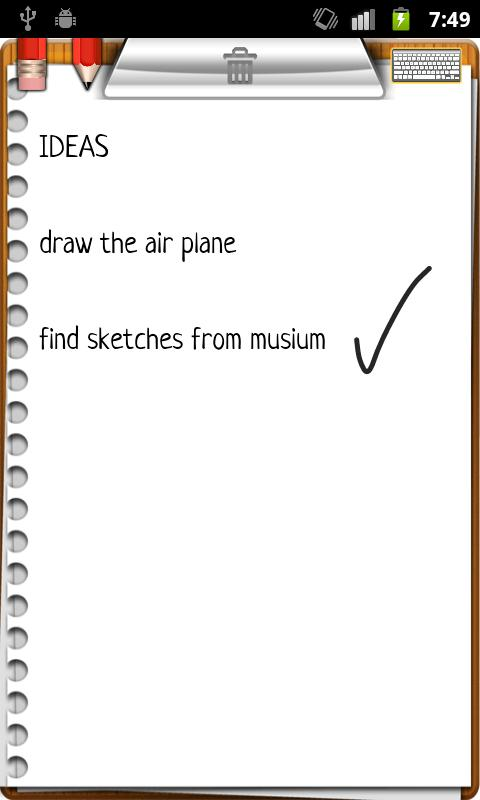 NoteMaster NotePad + draw pad - screenshot