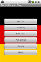 Screenshot of 2000 German Flashcards & Quiz