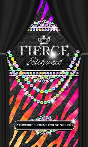 Luxury Theme Rainbow Zebra SMS
