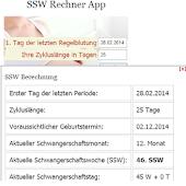 SSW Rechner - Schwangerschaft