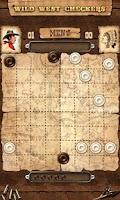 Screenshot of Wild West Checkers