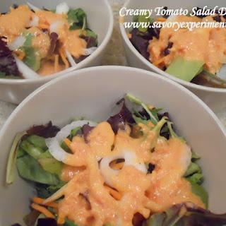 Creamy Tomato Salad Dressing.
