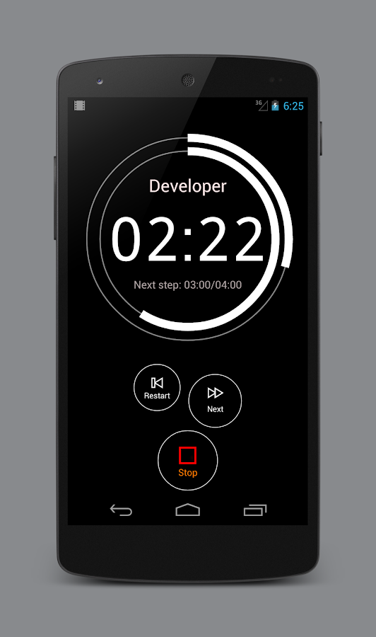 Dev it - darkroom timer- screenshot