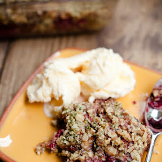 Raspberry, Oatmeal, and Hemp Seed Cobbler