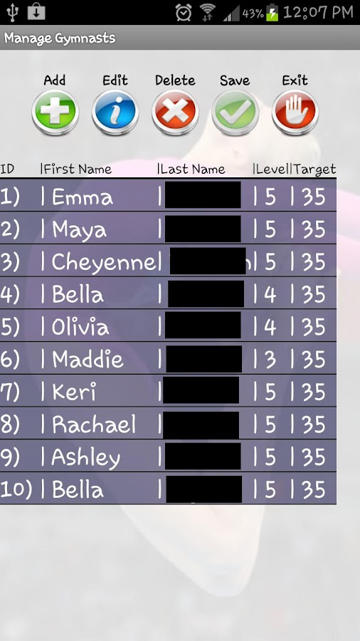 All Around Gymnastic Scoring- screenshot