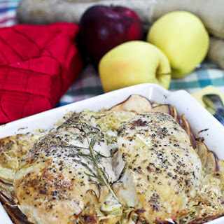 Apple and Cabbage Oven Baked Chicken Recipe
