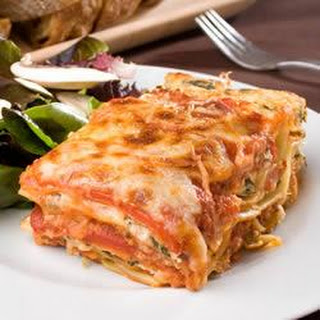 Quick and Easy Pesto Polenta Lasagna.