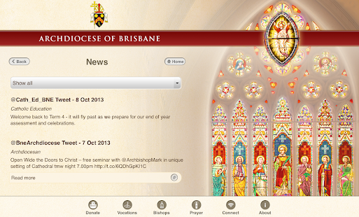 Archdiocese of Brisbane- screenshot thumbnail
