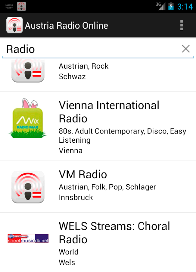 Austria Radio Online - screenshot