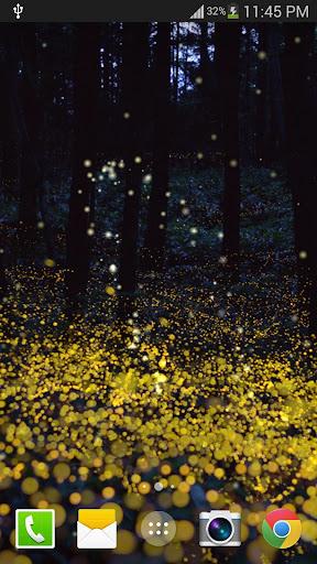 숲 반딧불 라이브 배경 화면
