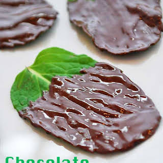 Chocolate Covered Mint Leaves.