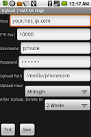 Screenshot of Upload 2 NAS