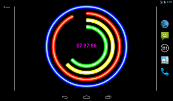 Screenshot of Neon Clock Live Free Wallpaper