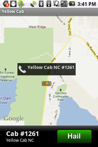 Yellow Cab App - screenshot