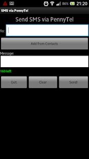 SMS-via-PennyTel - screenshot thumbnail