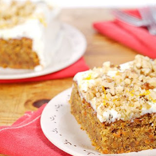 Carrot Cake with Lime Mascarpone Icing.